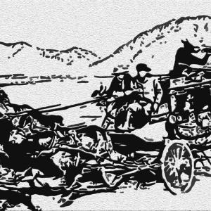 駅馬車 US  1939 Digital 版画