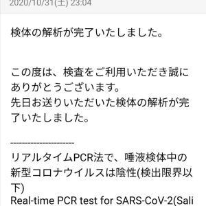 PCR検査の結果