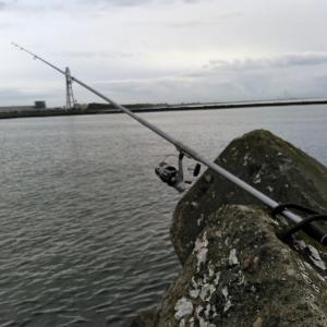 岩瀬で投げ釣り