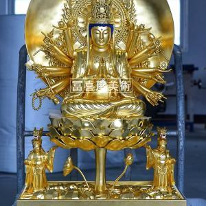 [純金張り]準胝観音菩薩 90cm〔寺院様,個人様向き〕