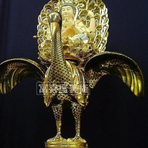 豪華絢爛・孔雀明王・120cm 【寺院様・個人様向き】