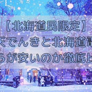 【北海道民限定】楽天でんきと北海道電力どちらが安いのか徹底比較!