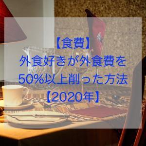 【食費】外食好きが外食費を50%以上削った方法【2020年】