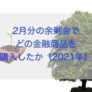 2月分の余剰金でどの金融商品を購入したか(2021年)