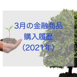 3月の金融商品 購入履歴(2021年)