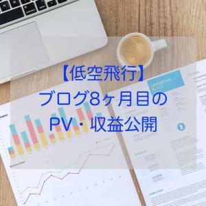 【低空飛行】ブログ8ヶ月目のPV・収益公開