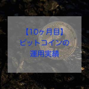 【10ヶ月目】ビットコインの運用実績