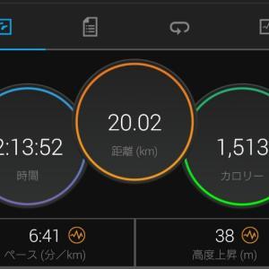 走り納めの20k + ショートコースをグルグル 2020年12月31日(木)