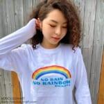 NO RAIN NO RAINBOW長袖Tシャツ
