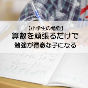【小学生の勉強】算数を頑張るだけで、勉強が得意な子になる