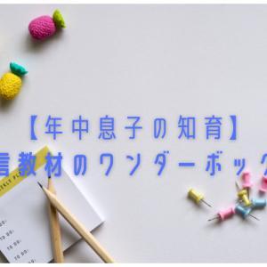 【年中息子の知育】通信教材のワンダーボックス
