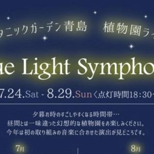 宮交ボタニックガーデン青島でライトアップが実施されているよ