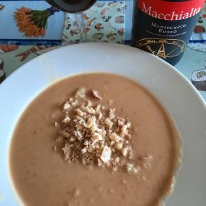 栗拾いの後、栗とヒヨコ豆のスープを作ってみた