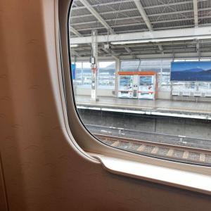 大雨で新幹線止まり、名古屋まで一時間以上遅延