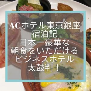 ACホテル東京銀座宿泊記☆日本一豪華な朝食をいただけるビジネスホテル太鼓判!