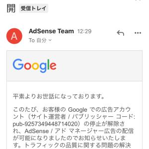 Google AdSenseアカウント停止が解除された直後に再び広告制限。そこからどうやって復活したか?