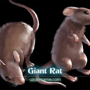 【大ネズミ】イラスト素材