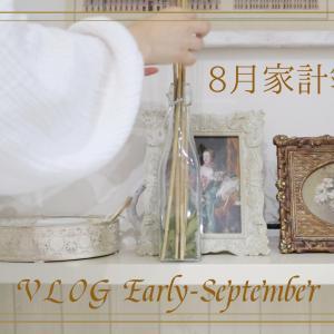 【VLOG】8月家計簿公開/合計600円♡100均だけハロウィンインテリア/パンパスグラスを飾る