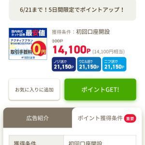 簡単☆14,100円【SBI証券】口座開くだけ!!