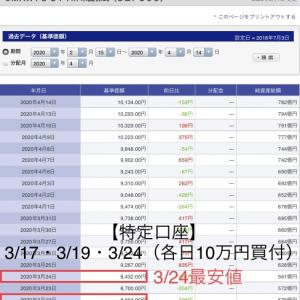 2020年3月 特定口座30万円買付