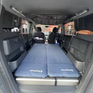 【車中泊】フリードスパイクで使用しているKingCampエアーマット