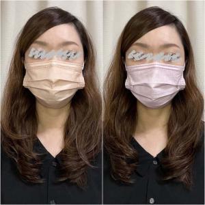 【おすすめ】不織布血色マスク人気色「ライラックアッシュ」「ヘーゼルナッツ」レビュー