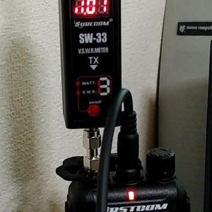 アンテナ下に、金属があると、VSWR値が下がる