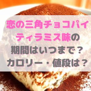 恋の三角チョコパイ・ティラミス味の期間はいつまで?カロリー・値段は?