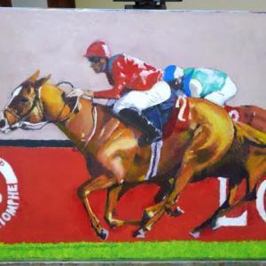 競争馬を描いてみた。