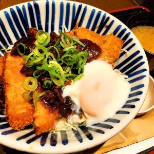 キッチンなごや@JR名古屋駅で でら旨味噌カツ丼半熟たまごのせ