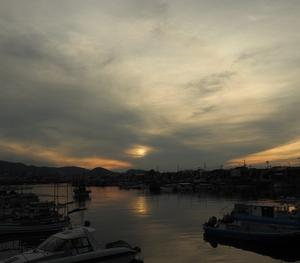 4日ぶりの夕陽のおっかけ