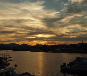 茜色の夕焼け雲、見れた