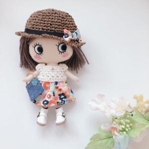 【イーマリーちゃん 服】毛糸×お花柄 ワンピースセットのご紹介 ♡委託販売品