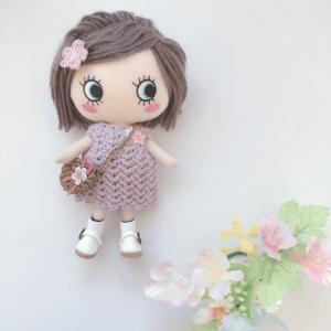 イーマリーちゃん♡ラベンダー色のワンピースも 編んでみました