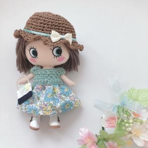 【イーマリーちゃん 服】リボンの帽子とワンピース<委託販売品>