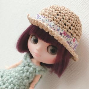 【アイシードール】ここちゃんの帽子を編みました<ミディブライスサイズ>