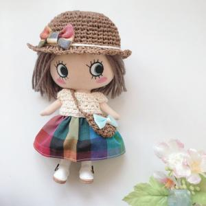 【イーマリーちゃん 服】チェック柄のワンピース<委託販売品>