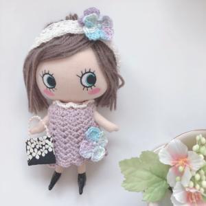 <イーマリーちゃんの服>アジサイのワンピースセット作りました