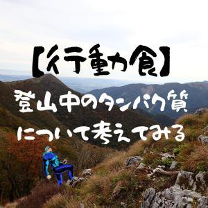 登山中でのタンパク質を考える【行動食】
