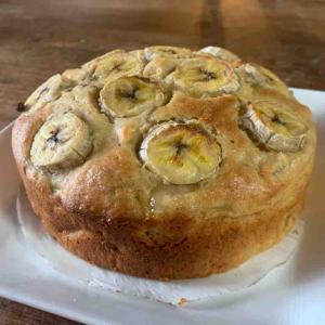 バナナとりんごのパウンドケーキ