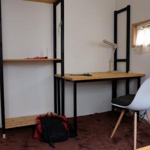 ヘタレDIY日記 子供部屋の壁面収納が完成しました