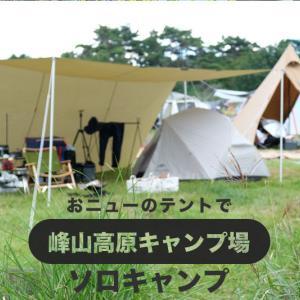 おニューのテントでソロキャンプ