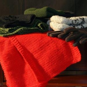 初の冬シーズンキャンプに向けての洋服の準備