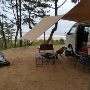 大洗サンビーチキャンプ場!海を眺めながらの乾杯と朝コーヒーは格別!