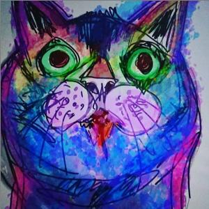 iPadと Apple Pencilで絶望した猫の絵を描いてみたら想像以上に病んだ表情になったので見てくれ!