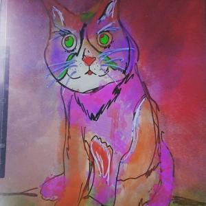 10.2インチiPadとApple Pencilでつぶらな瞳の可愛い猫を描いてみた!その1