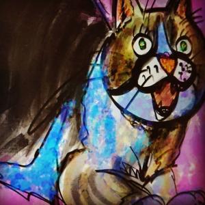 iPadとApple Pencilでアホ面の無垢なる瞳をした可愛い猫を描いてみたら・・・・その1