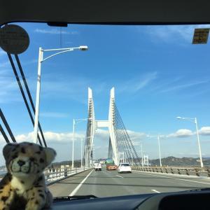瀬戸大橋を渡って
