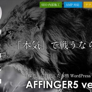 【AFFINGER5】アフィンガー5を購入する前に!【効果、感想、価格】