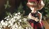 かすみ草と赤いドレス